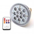 Red & Blue High Power 12 Watt PAR38 LED Grow Light with Remote Control (Final Sale)