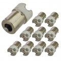 BA15s to G4, GU4/MR11, and GU5.3/MR16 Base Socket Adapter (10-Pack)