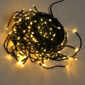 Linkable 33-Feet Green Wire String Light with 100 LEDs and Detachable Multi-Function Controller