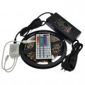12V 16.4-ft Color-Changing RGB Kit with 300xSMD5050 Flexible LED Strip, Power Supply, and Choice of Controller