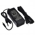 12V 5A 60W AC/DC Power Adapter with 5.5x2.5mm DC Plug and 2.1mm Adapter, Black, UL-Listed