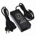 24V 4A 96W AC/DC Power Adapter with 5.5x2.5mm DC Plug and 2.1mm Adapter, Black, UL-Listed