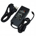 12V 8A 96W AC/DC Power Adapter with 5.5x2.5mm DC Plug and 2.1mm Adapter, Black, UL-Listed