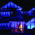 16.4-Feet 120-LED Icicle Christmas Holiday Lights with Dark Green Wire, X064