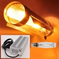 """400W HID Grow Light Kit with Electronic Ballast, HPS Bulb, and 6"""" Round Cool Tube Reflector"""