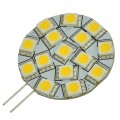 G4 Base Side-Pin Disc Type 3W LED Light Bulb with 15xSMD5050 12V AC/DC
