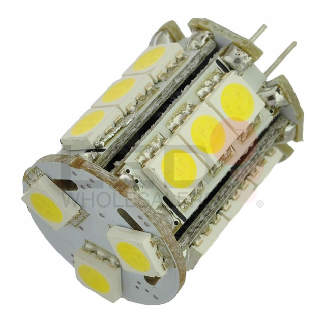 G4 Bi-Pin Base Tower Type LED Bulb With 18xSMD3528 12V 1