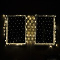"""Linkable 40""""x80"""" 176-LED Green Wire Christmas Net Light with Detachable Multi-Function Controller"""
