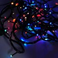 Linkable Color-Changing 33-ft 100-LED Christmas Light String with Green Wire